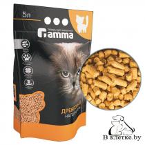 Наполнитель для кошачьих туалетов Gamma древесный крупный