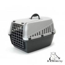 Переноска Savic Trotter 1 для кошек темно-серая/серая