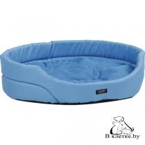 Лежак овальный для домашних питомцев Exclusive M голубой