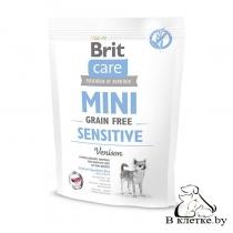 Корм собакам с чувствит. пищеварением Brit Care Mini GF Sensitive