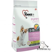 Корм 1st Choice Puppy Toy & Small Breeds Healthy Skin & Coat