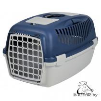 Переноска пластиковая для собак и кошек Traveller Capri III темно-синяя