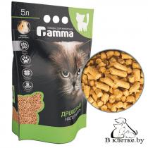 Наполнитель для кошачьих туалетов Gamma древесный мелкий