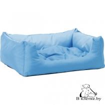 Лежак квадратный с подушкой Exclusive M голубой