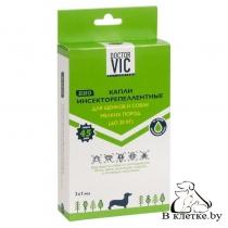 Капли Инсекторепеллентные для щенков и собак мелких пород Doctor VIC