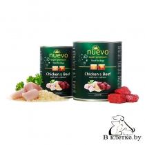 Консервы для щенков Nuevo Chicken & Beef with Rice + Calcium, 400гр