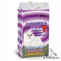 Наполнитель для туалета Pussy-cat Комкующийся 10л