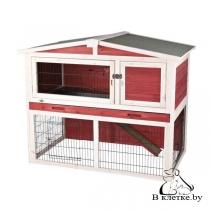 Клетка для кроликов c загоном Trixie natura 124x102x78см красно-белая