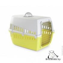 Переноска Savic Trotter 2 для кошек салатовая/серая