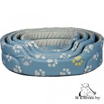 Лежак Trixie Jimmy 65х55 голубой в лапки
