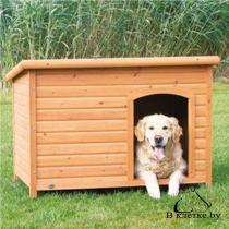 Конура для собаки с плоской крышей Trixie natura XL рыжий/белая