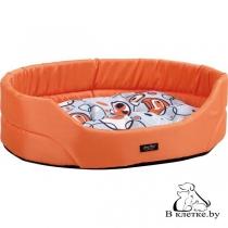 Лежак овальный для кошек и собак Crazy L оранжевый