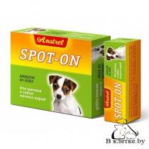 Биокапли на холку для щенков и собак мелких пород Amstrel Spot-on