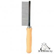 Расческа с деревянной ручкой и тонкими зубьями Trixie