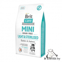 Диетический корм Brit Care Mini GF Light & Sterilised