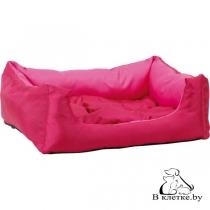 Лежак квадратный с подушкой Exclusive S розовый