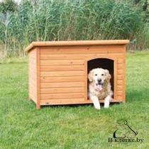 Конура для собаки с плоской крышей Trixie natura XL коричневая
