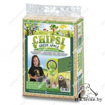 Опилки с запахом яблока Cat's Best CHIPSI PLUS Green APPLE