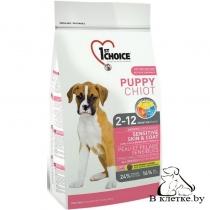 Корм 1st Choice Puppy Sensitsve Skin & Coat