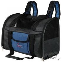 Рюкзак-переноска Trixie Connor для собак до 8 кг черная/синяя