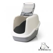 Туалет-домик Savic Nestor для кошек белый/серый
