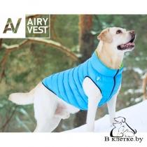 Курточка двухсторонняя AiryVest Салатово-Голубая