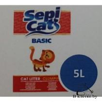 Комкующийся наполнитель для кошачьего туалета SepiCat Basic 5л