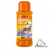 Шампунь антипаразитарный для кошек и собак с маслом чайного дерева и лаванды Amstrel