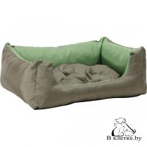 Лежак квадратный с подушкой Exclusive M зеленый