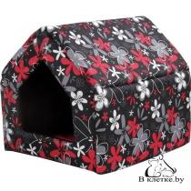 Домик-будка для кошек и собак Crazy S красный