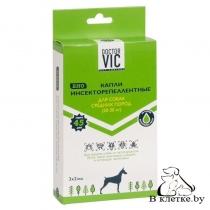 Капли Инсекторепеллентные для собак средних пород Doctor VIC