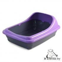 Туалет для кошек с ассиметричным бортом Gamma