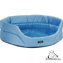 Лежак овальный для кошек и собак Exclusive XS голубой