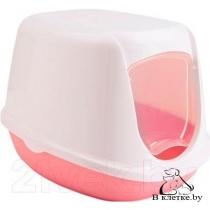 Туалет-домик Savic DUCHESSE белый-розовый