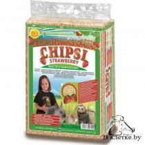 Опилки с запахом клубники Cat's Best CHIPSI STRAWBERRY