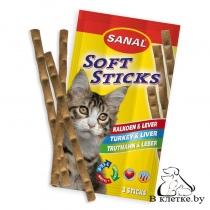 Sanal для кошек «Мягкие колбаски с печенью и индейкой»