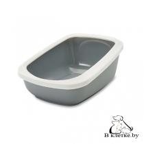 Туалет Savic Aseo jumbo для кошек белый/тёмно-синий