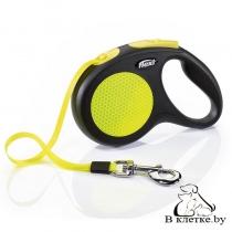 Рулетка для собак Flexi New Neon S Лента