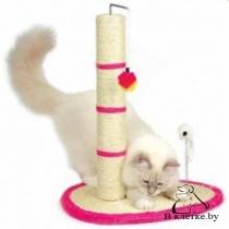 Когтеточка Trixie в виде столбика с шариком и мышкой на пружинке