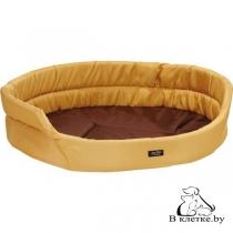 Лежак овальный для кошек и собак Exclusive S желтый