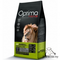 Корм Optima Nova Cat Hairball Chicken & Rise