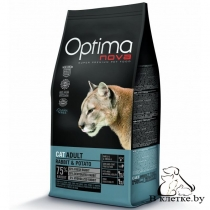 Корм Optima Nova Cat Adult Rabbit & Potato