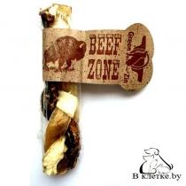 Косичка из сыромятной говяжьей кожи и мяса Beef Zone