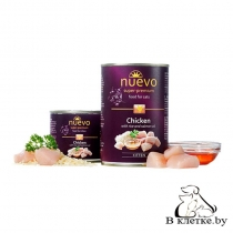 Консервы для котят Nuevo Chicken with Rice and Salmon Oil, 400гр