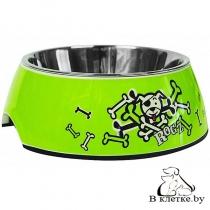 Миска для собак Rogz Lime Bones Medium