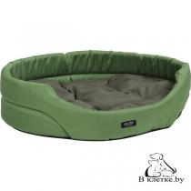 Лежак овальный для домашних питомцев Exclusive M зеленый