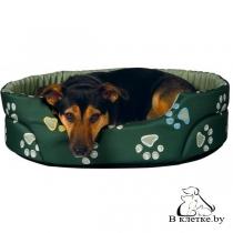 Лежак Trixie Jimmy 75x65 зеленый в лапки