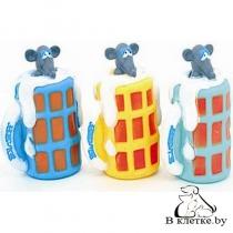 Игрушка с пищалкой для собак Lilli Pet Мышка в кружке