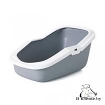 Туалет Savic Aseo для кошек белый/серый