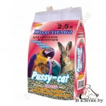 Подстилка для грызунов и попугаев Pussy rabbit Гранулы